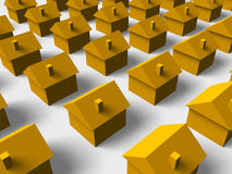 3d Houses Stock Photography