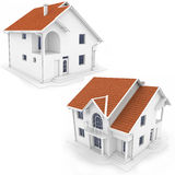 3d houses. Isolated on white Royalty Free Stock Images