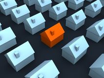 3d houses Royalty Free Stock Photography