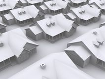 3d houses royalty free illustration