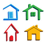 3D houses icons Stock Image
