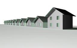 3d houses modernt framför Arkivbild
