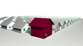3d houses modernt framför bostads Arkivbild