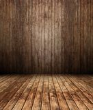 3d houten binnenland, paneelmuur Stock Afbeeldingen