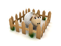 3d houten omheining Stock Foto