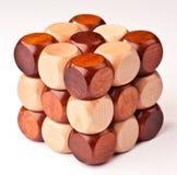 3D houten raadsel Royalty-vrije Stock Foto's