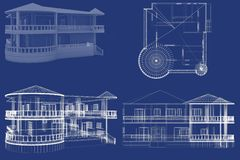 3D Huis Stock Foto's