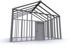3D Huis royalty-vrije illustratie