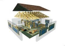 3D huis Royalty-vrije Stock Afbeeldingen