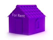 3d huis voor huur stock illustratie