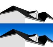 3D huisillustratie Stock Foto