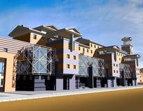 3D huisontwerp Royalty-vrije Stock Fotografie