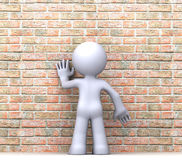 3D human character Royalty Free Stock Image