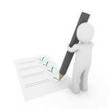 3d human check gray pen Stock Image