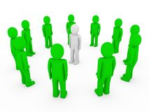 3d human circle green white Stock Image