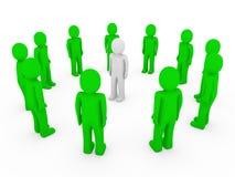 3d human circle green white Stock Image