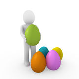 3d human easter egg colorful Royalty Free Stock Photos