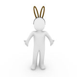 3d human easter hare egg Royalty Free Stock Photos