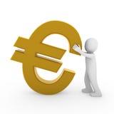3d human euro. Symbol gold business money Stock Photography