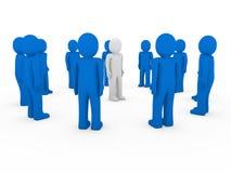3d human group circle blue Stock Photo