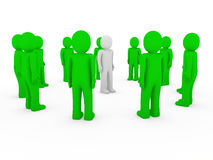 3d human group circle green Stock Photos