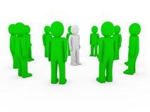 3d human group circle green Stock Photos