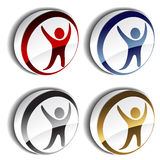 3D human icons. Set of 3D human icons - illustration Stock Photography