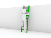 3d human ladder green Stock Photos