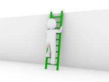 3d human ladder green Stock Photos