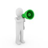 3d human megaphone Stock Photography