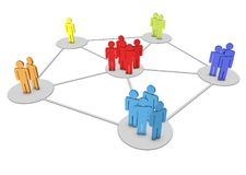 3d human network. In white background Stock Image