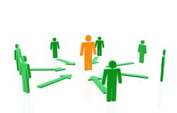 3d human network. In white background Royalty Free Stock Images