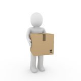 3d human package shipping Stock Image