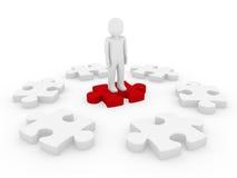 3d human puzzle circle Stock Image