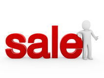 3d human sale red Royalty Free Stock Photos