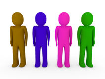 3d human team Royalty Free Stock Photo