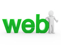 3d human web green Royalty Free Stock Image