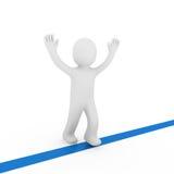 3d human winner target. 3d human run winner target success first blue Stock Photography