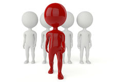 3d humanoid character leadership concept. On white Royalty Free Stock Image