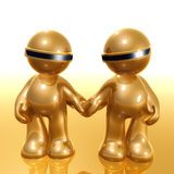3d humanoid couple icon Royalty Free Stock Image