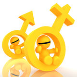 3d humanoid gender icon Royalty Free Stock Photos