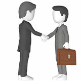 3D Humans Shaking hands. 3D Humans, shaking hands. Business men. Isoladet Royalty Free Stock Photos