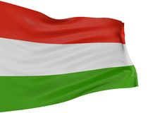 3D Hungarian flag Royalty Free Stock Photography