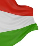 3D Hungarian flag Royalty Free Stock Photo