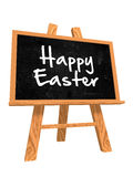 3d iblackboard with happy easter Royalty Free Stock Photography