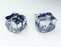 3d ice cube Stock Photo