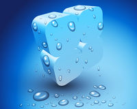 3D Ice cube. This is an illustration of frozen 3D cubes Stock Photos