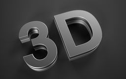 3D Icon. Icon for video of the new generation Royalty Free Stock Images