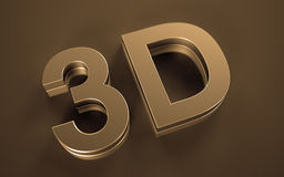 3D Icon. Icon for video of the new generation Royalty Free Stock Image