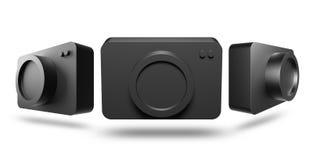3D icon camera black color Stock Image